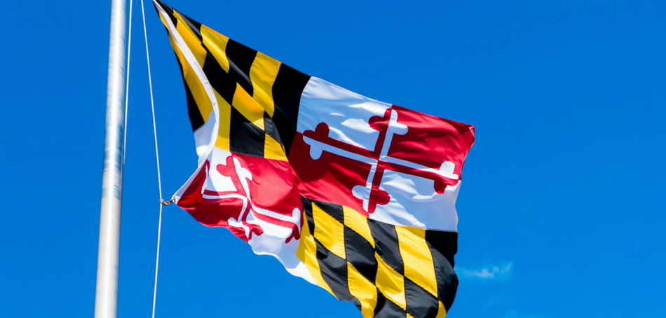 Maryland state flag - get a Maryland medical marijuana card
