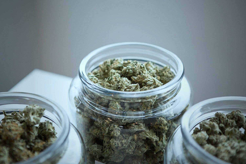 medical marijuana in jar
